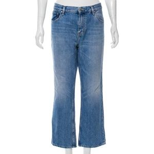 IRO High-Rise light wash Cropped 100% Cotton Jeans
